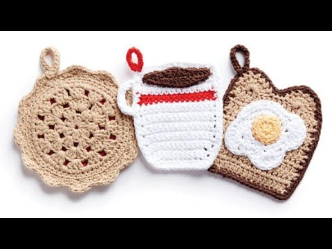 How to Crochet A Pot Holder: Cherry Pie