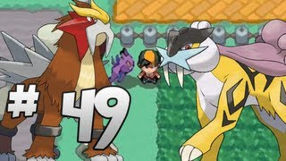 Let's Play Pokemon: HeartGold Part 49 Entei & Raikou