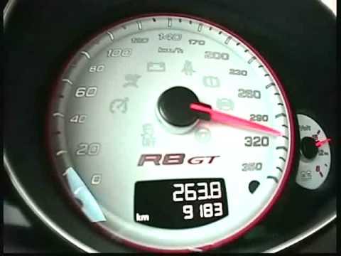 323 km/h en Audi R8 GT (Motorsport)