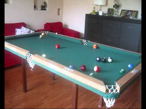 Home Made Pool Table First Test Youtube