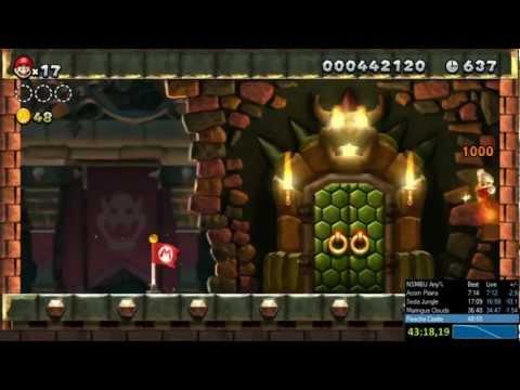 Hình ảnh trong video New Super Mario Bros. U Any% Speedrun 46:42