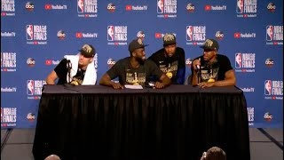 Kevin Durant | Klay Thompson | Draymond Green | Andre Iguodala | Game 4 NBA Finals Press Conference