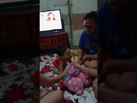 Funny baby while eating ice candy