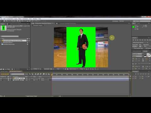 How to - Chroma key green screen/Blue screen using (After Effects CS5)