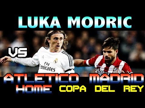Luka Modric vs Atletico de Madrid Copa del Rey Home ( 06/02/2014 - 06.02.2014 ) [HD]