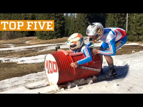 TOP FIVE: Home Made Bobsled, Tricking & Cycling | PEOPLE ARE AWESOME 2017