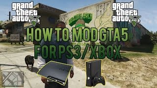 How To Mod GTA 5 PS3/XBOX!! GTA 5 Texture Modding! Online