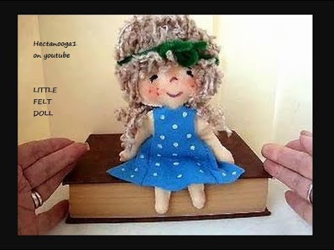 LITTLE FELT DOLL, how to diy, hand sewing pattern, pattern pieces provided.