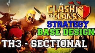 Clash Of Clans: Town Hall 3 Sectional Defensive Base