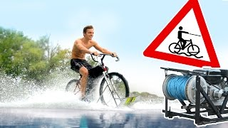 Mit dem Fahrrad über den See?!   Wakebike und Wakeboard WINCH bauen