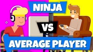 Ninja vs Average Player (You) on Fortnite Battle Royale