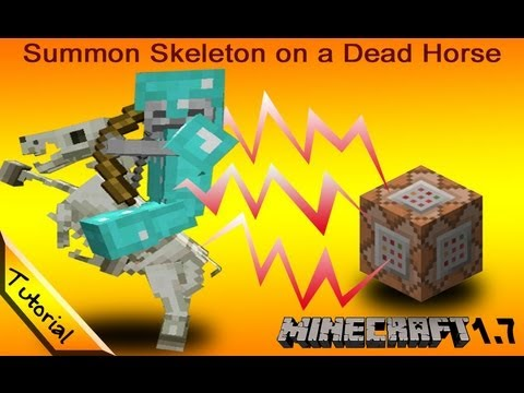 Tutorial: Summon a Skeleton on a Skeletal Horse. Minecraft 1.7 [snapshot 13w32b]