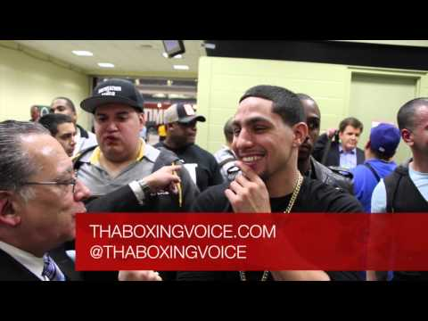 DANNY GARCIA AND PAULIE MALIGNAGGI FACE OFF TALK BARCLAY