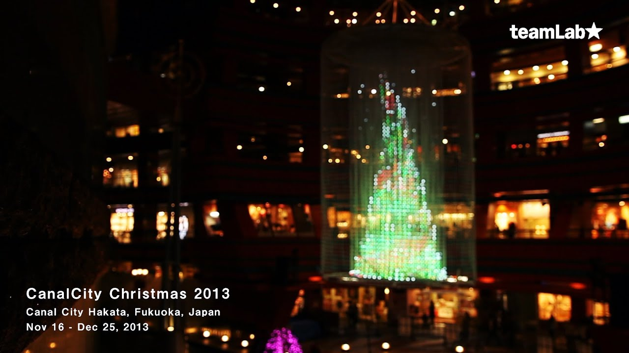 The Crystal Tree of Wishes in Interactive 4D Vision / CanalCity Christmas 2013