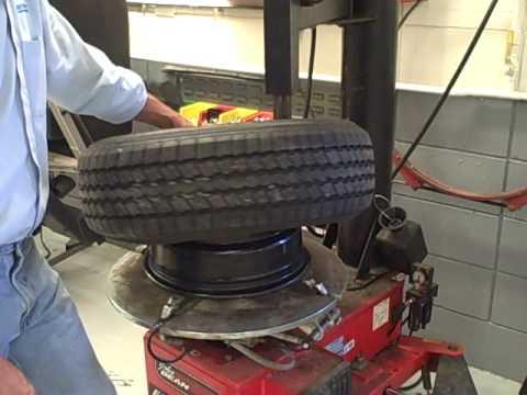 using a tire machine