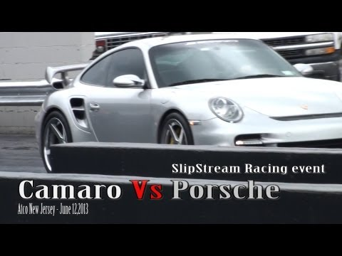 Camaro Vs Porsche 1/4 mile drag race