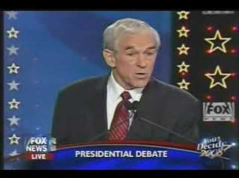 Ron Paul pwns a trick question in Debate 1-10-08
