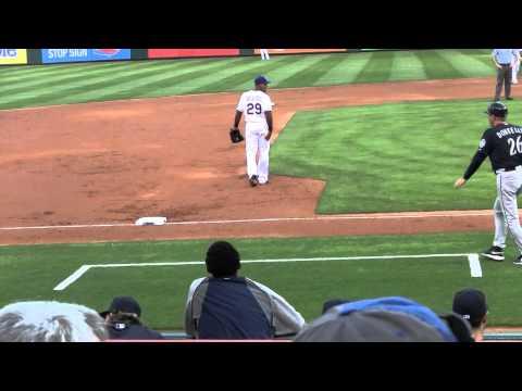 Adrian Beltre and Felix Hernandez have fun 5/20/14