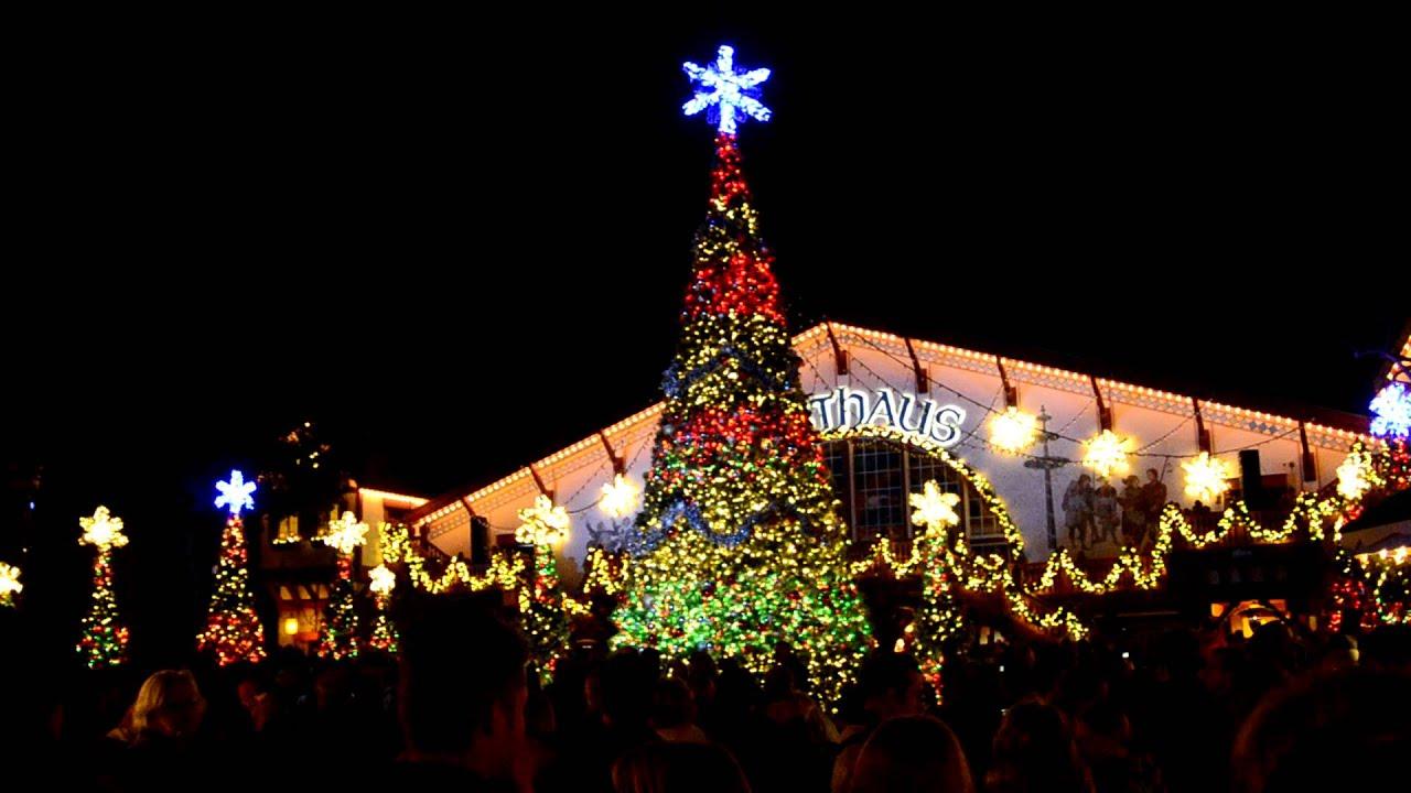 Light Show At Busch Gardens Christmas Town Youtube