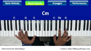Pukarta Chala Hoon Main Piano Tutorial Melody Chords