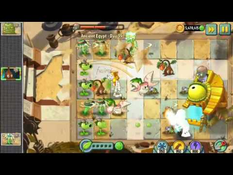 Plants vs Zombies 2 : Ancient Egypt : Doctor Zomboss - Day 35