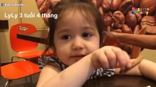 Em nói chuyện lễ phép với bạn mẹ - LyLy 3 tuổi 4 tháng