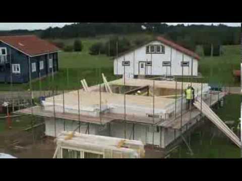 Skydinių karkasinių namų statyba ant plokštuminių pamatų