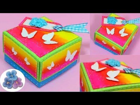 Como hacer una caja diy how to boxes origami hacer cajas - Como hacer una caja ...
