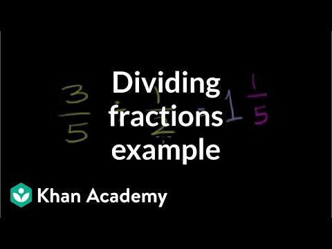 Dividing Fractions Example