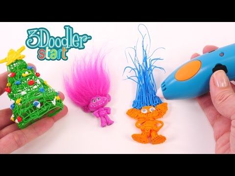 Trolls Melted Plastic Craft 3doodler Start - 3d Pen Diy Toys
