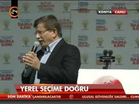 Ahmet Davutoğlu, Başbakan'ın mesajını iletti | AK Parti Konya Mitingi