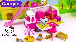 MLP LPS Hello Kitty Summer Camper RV Van Fluttershy