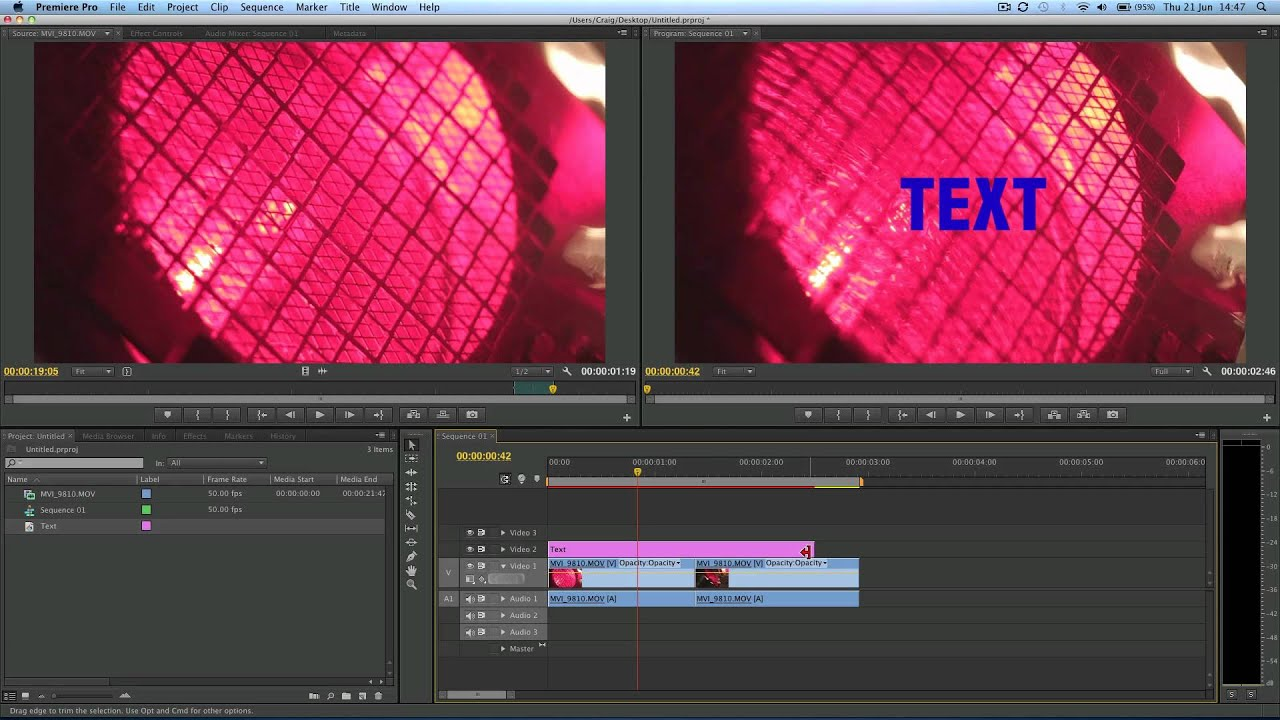 how to add typing text in premiere pro