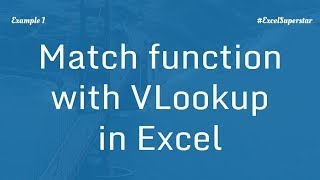 Using VLOOKUP with MATCH for 2d lookup Example 1 in Excel in Hindi