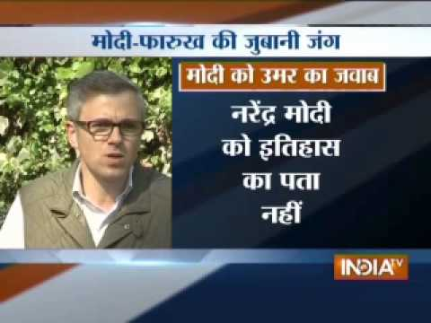 Omar Abdullah hits out at Modi, says don't have to learn secularism from him