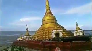 شاهد بالفيديو لحظة انهيار معبد بوذي في نهر هائج بميانمار  