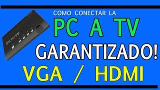 Como conectar tu PC o Laptop a TV