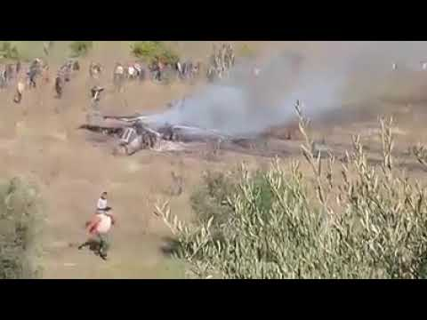 فيديو لإحتراق طائرة مقاتلة للتداريب العسكرية في ضواحي تاونات