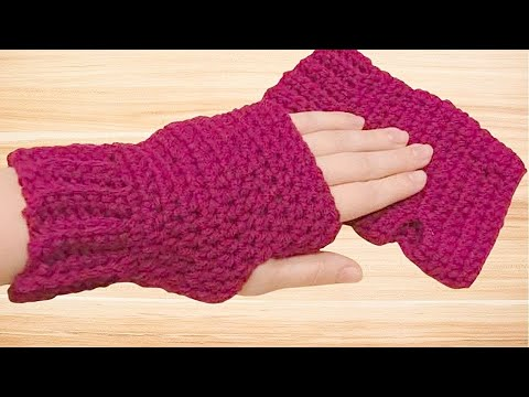 Crochet Fingerless Gloves Tutorial