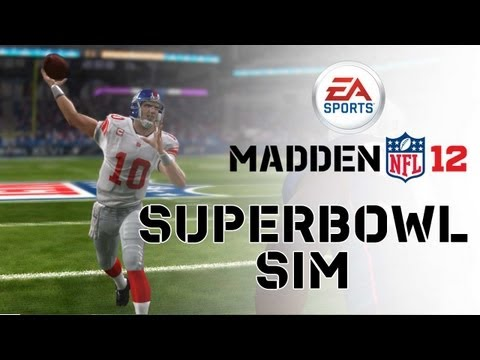 Madden NFL 12 - Super Bowl XLVI Sim - Patriots vs Giants