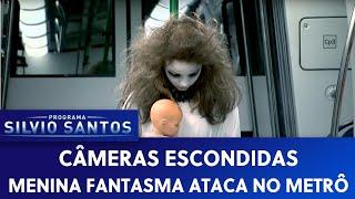 Menina Fantasma Ataca no Metrô Scary Ghost Subway Prank  Pegadinha  Câmera Escondida