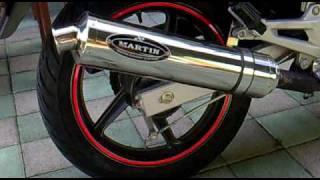 Honda CBF 250 With Martin Exhaust