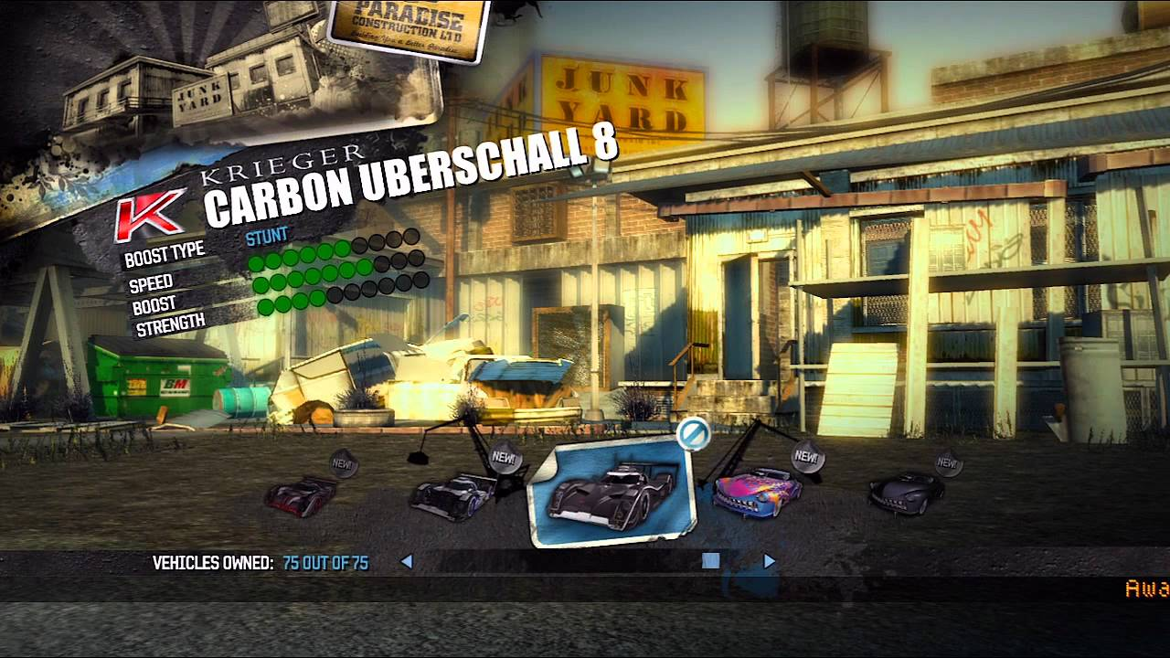 Burnout  Unlock All Cars Xbox