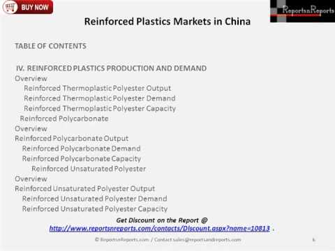 China Reinforced Plastics Market Production and Demand Analysis Report