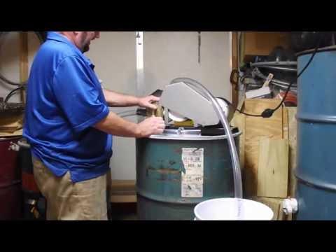 HONEY PUMP Beekeeping, Pumping Honey Buckets Barrels Maxant Rotary Gear Pump Georgia Beekeeper John