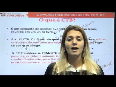 Vídeo Aula grátis - Legislação de Trânsito - Profa. Cintia Knopp  - Mestre dos Concursos