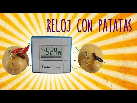 ¡INCREÍBLE! Reloj con patatas (Experimentos Caseros)