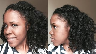 Quick And Easy Natural Hairstyle: Half Up Half Down