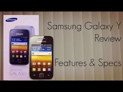 Samsung Galaxy Y Mobile Phone Review - Features & Specs