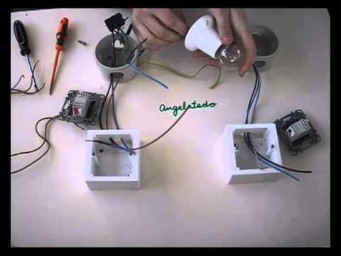 Instalaci n de conmutada de un punto de luz b otra for Puntos de luz vivienda